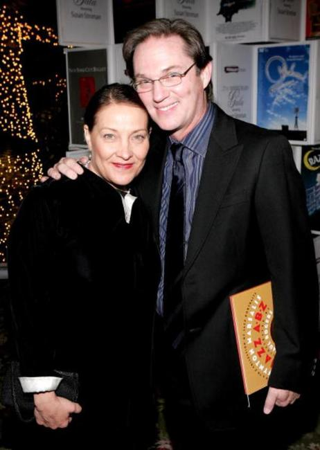 Georgiana Bischoff and Richard Thomas at the Primary Stages Gala benefit dinner honoring Tony Awards.